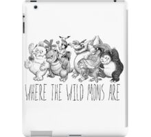 Where the Wild Mons Are iPad Case/Skin