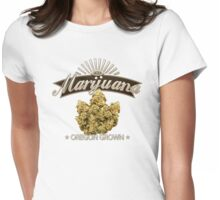 Marijuana Oregon Grown Womens Fitted T-Shirt