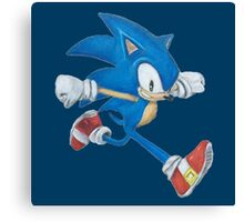 Sonic the Hedgehog Prismacolor Drawing Canvas Print