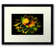 Stained Glass Sunflower Framed Print
