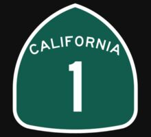 California Highway 1 T-Shirt - State Route One Road Sign Sticker PCH T-Shirt