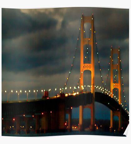Mackinac Bridge 100210 Poster