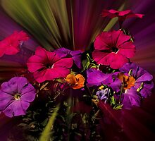 Heavenly Petunias by Diane Schuster