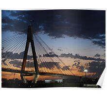 ANZAC Bridge Dusk Poster