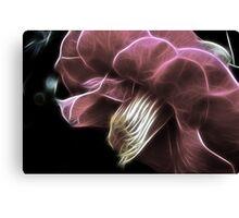 Fractalicious Camellia Canvas Print