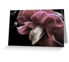 Fractalicious Camellia Greeting Card