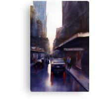 Wet Day,Lt Collins St, Melbourne Canvas Print