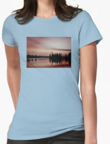 Pink Sunset, Manitoba Womens Fitted T-Shirt
