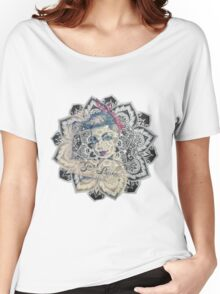 GIrl Power Mandala Design Women's Relaxed Fit T-Shirt