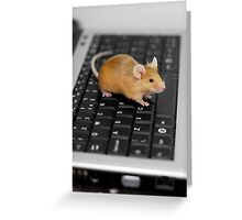 Keyboard and Mouse Greeting Card