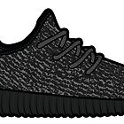 Yeezy 350 Boost Black by wup66