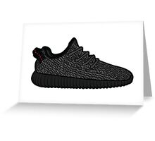 Yeezy 350 Boost Black Greeting Card