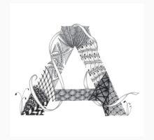 Zentangle®-Inspired Art - Tangled Alphabet - A One Piece - Long Sleeve