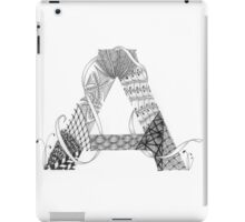 Zentangle®-Inspired Art - Tangled Alphabet - A iPad Case/Skin