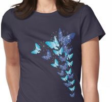 Social network butterfly Womens Fitted T-Shirt