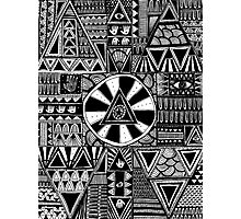 Mystery Black and White Pattern Photographic Print