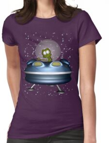 little Alien Lost in Space Womens Fitted T-Shirt