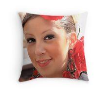 Spanish Lady. Throw Pillow