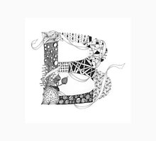 Zentangle®-Inspired Art - Tangled Alphabet - B Unisex T-Shirt