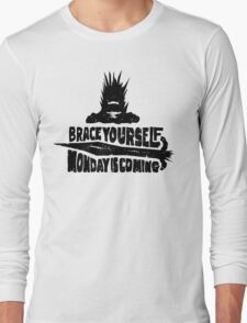 Monday is Coming  (Game of Thrones) (Black) Long Sleeve T-Shirt