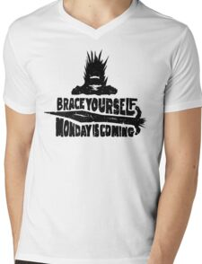 Monday is Coming  (Game of Thrones) (Black) Mens V-Neck T-Shirt