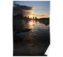 Broken Ice at Sunset Poster