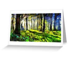 Van Gogh Forest Greeting Card
