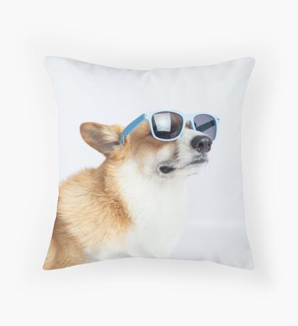 Dapper Corgi Throw Pillow