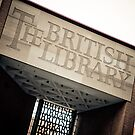 The British Library - Entrance Signage by Stanley Tjhie