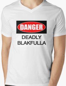 DANGER deadly Blakfulla [-0-] Mens V-Neck T-Shirt