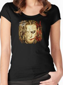 #BlkSailsBrethren's Ned Low Joker  Women's Fitted Scoop T-Shirt