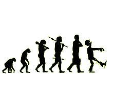 Evolution line up: abe to zombie Photographic Print