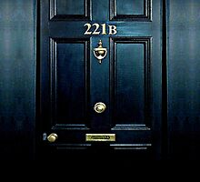 Haunted Blue Door with 221b number by Galih Sanjaya Kusuma wiwaha