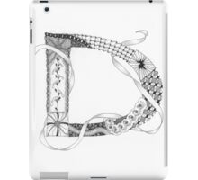 Zentangle®-Inspired Art - Tangled Alphabet - D iPad Case/Skin