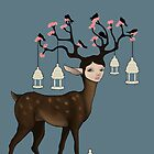 The Happy Springtime Deer! by Tiarne White