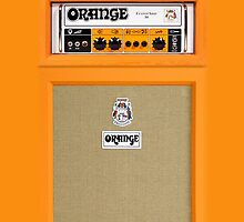 Orange color amp amplifier by Galih Sanjaya Kusuma wiwaha