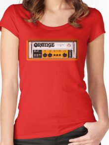 Orange color amp amplifier Women's Fitted Scoop T-Shirt