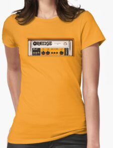 Orange color amp amplifier Womens Fitted T-Shirt