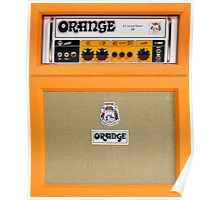 Orange color amp amplifier Poster