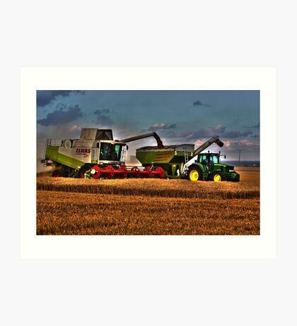 Combine with tractor Art Print