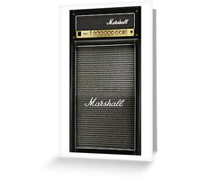 Black and gray color amp amplifier Greeting Card