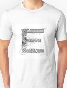 Zentangle®-Inspired Art - Tangled Alphabet - E T-Shirt