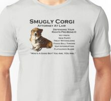 Smugly Corgi - Attorney At Law Unisex T-Shirt