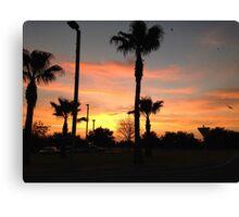 palm trees sunset 2 Canvas Print