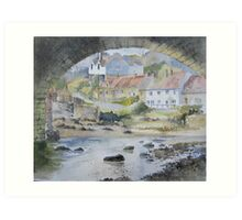 Sandsend under the Arches, Whitby Art Print