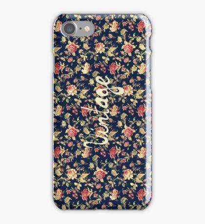 Vintage Elegant Pink and Red Roses Floral Pattern iPhone Case/Skin