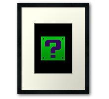 Riddler Bros Framed Print