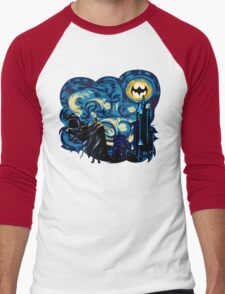 Vampire Starry night digital art Men's Baseball ¾ T-Shirt