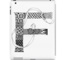 Zentangle®-Inspired Art - Tangled Alphabet - F iPad Case/Skin