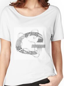 Zentangle®-Inspired Art - Tangled Alphabet - G Women's Relaxed Fit T-Shirt